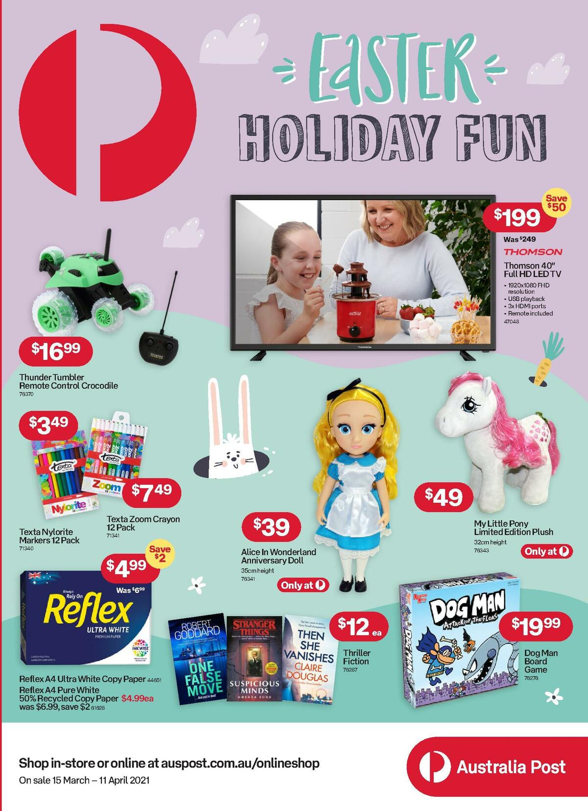 Australia Post Catalogues from March 15