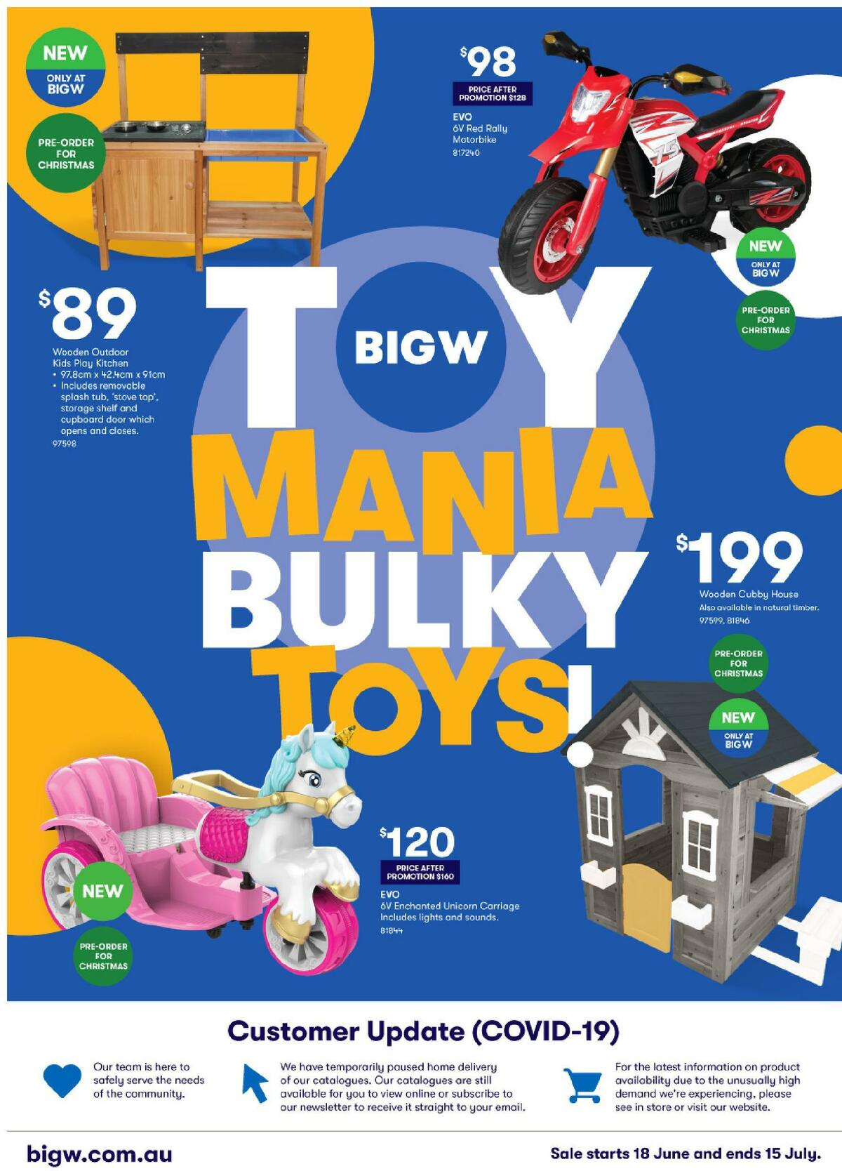 Big W Toy Mania Bulky Toys! Catalogues from June 18