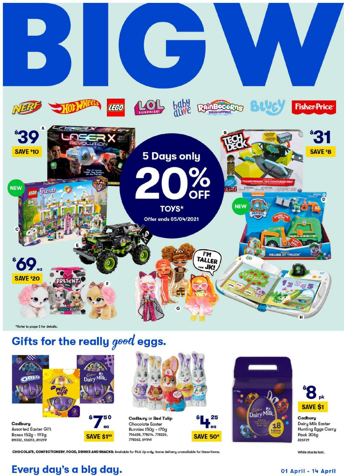 Big W Catalogues from April 1