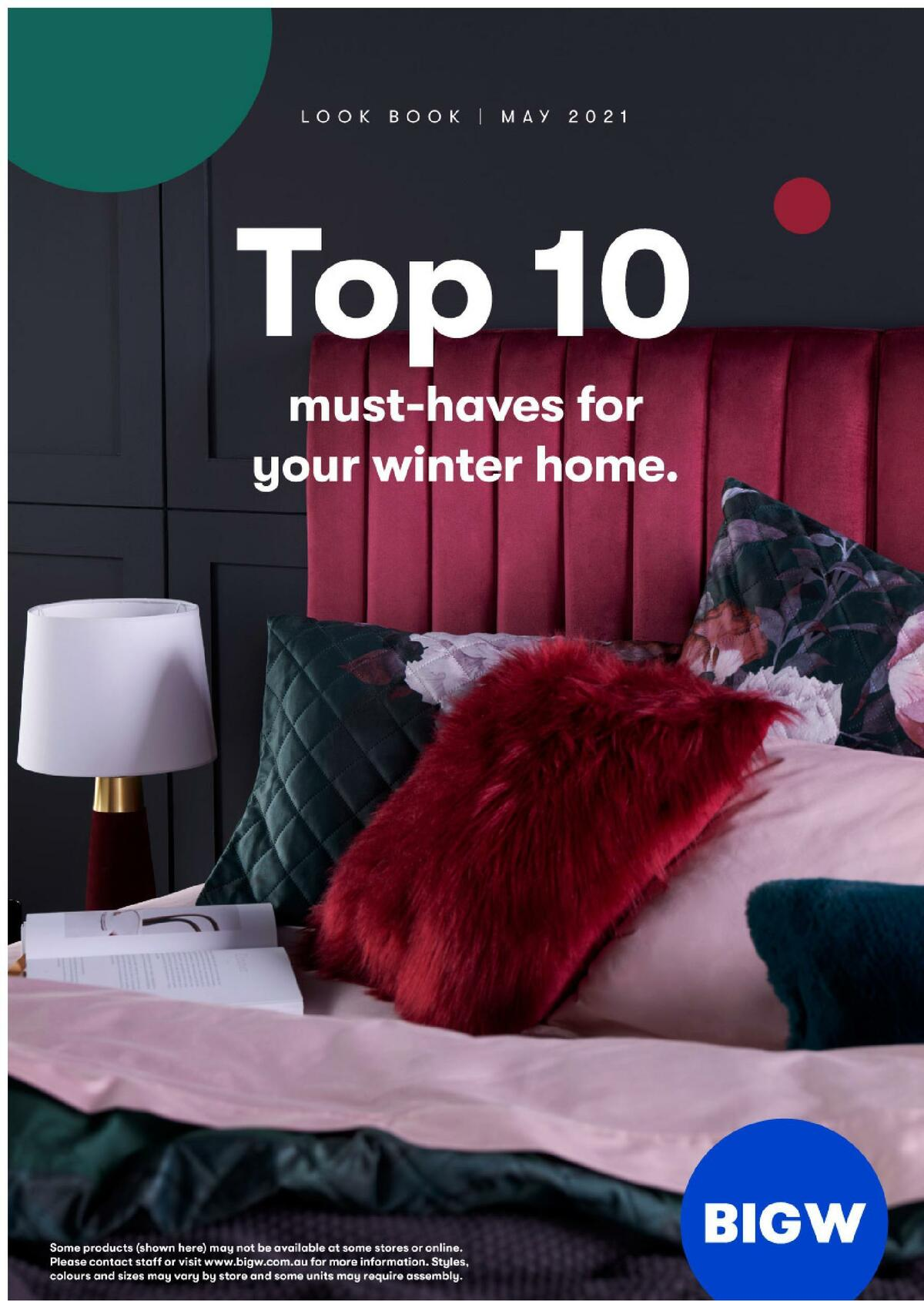Big W Top 10 Must-Haves For Your Winter Home Lookbook Catalogues from May 13