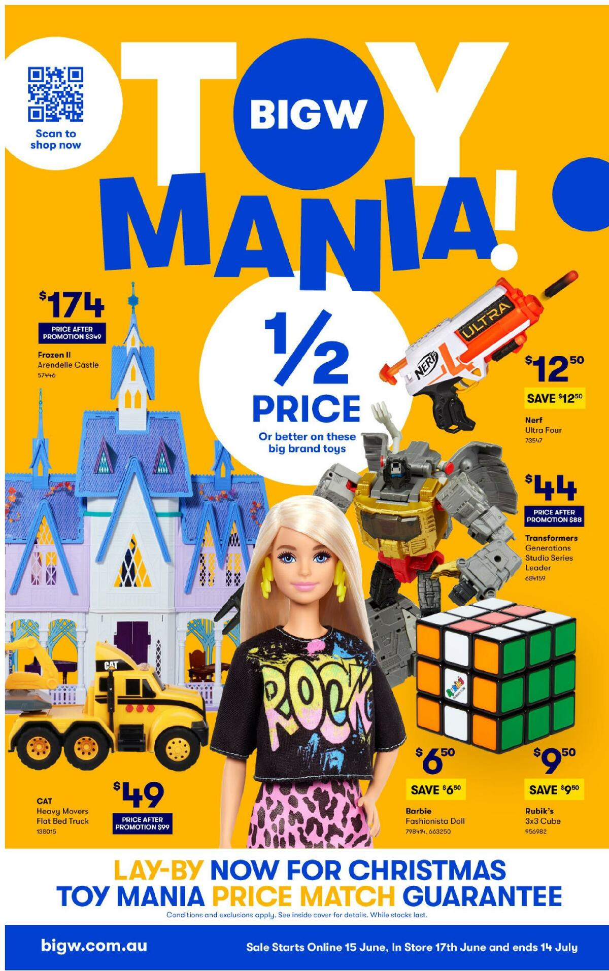 Big W Toy Mania! Catalogues from June 15