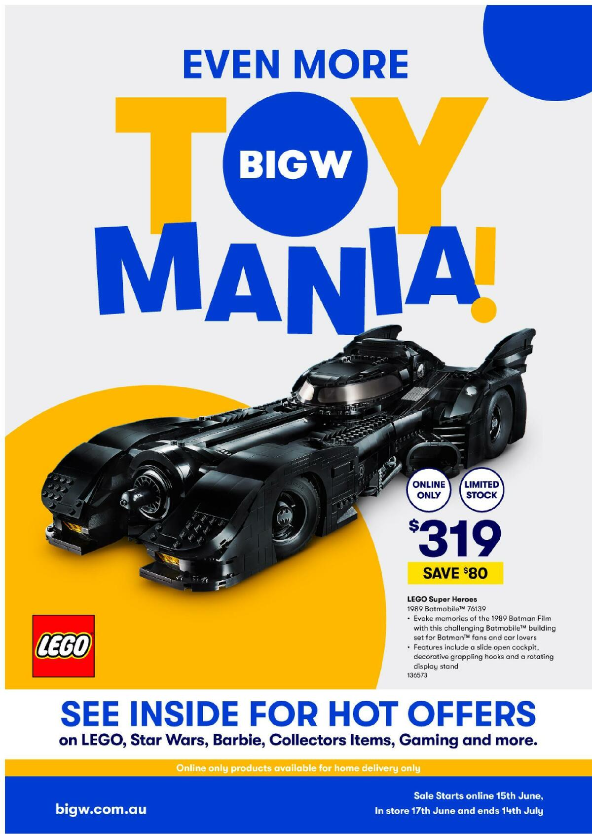 Big W Even More Toy Mania! Catalogues from June 15