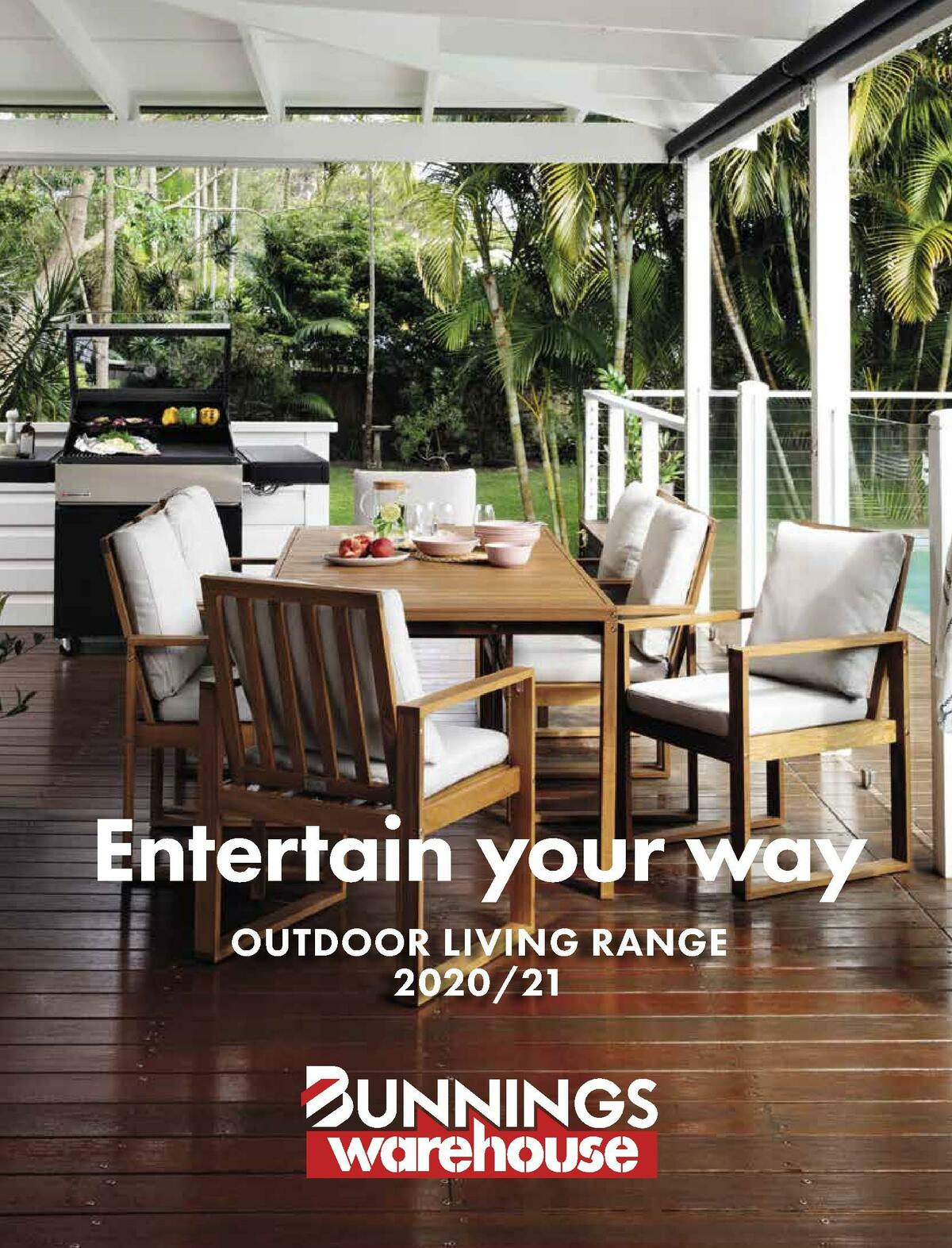 Bunnings Warehouse Outdoor Living Range Book Catalogues from December 1