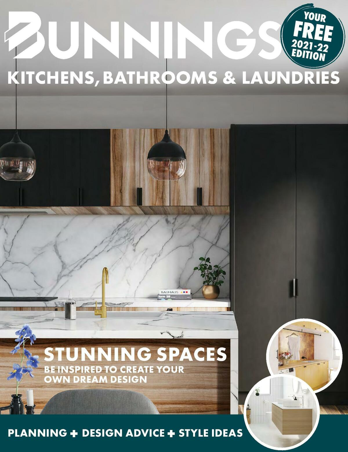 Bunnings Warehouse Kitchens, Bathrooms and Laundries 2021-22 Catalogues from July 1