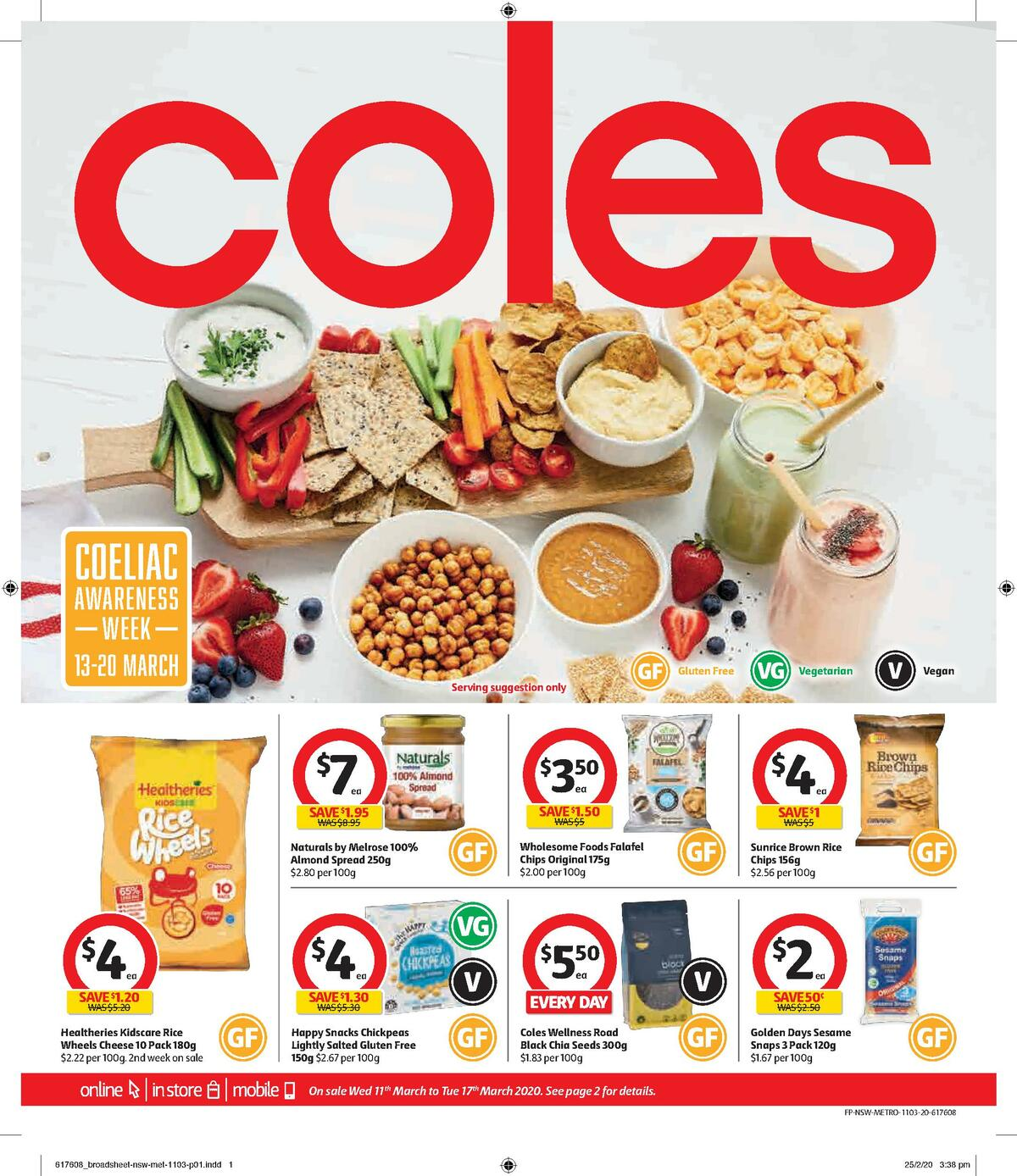Coles Coeliac Awarness Week Catalogues from March 11