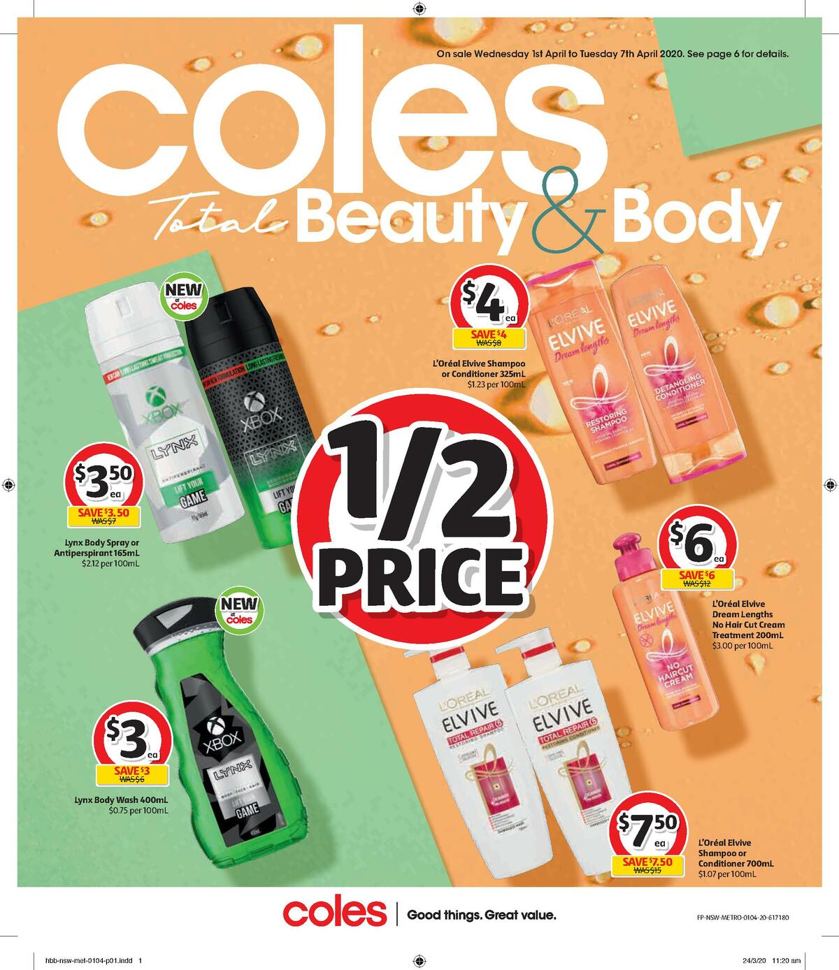 Coles Health & Beauty Catalogues from April 1