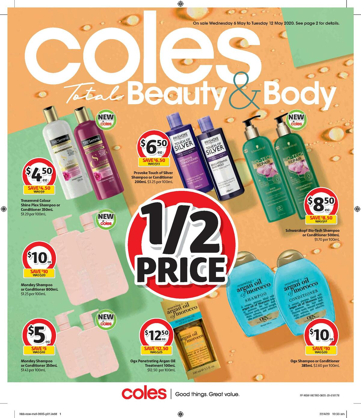 Coles Health & Beauty Catalogues from May 6
