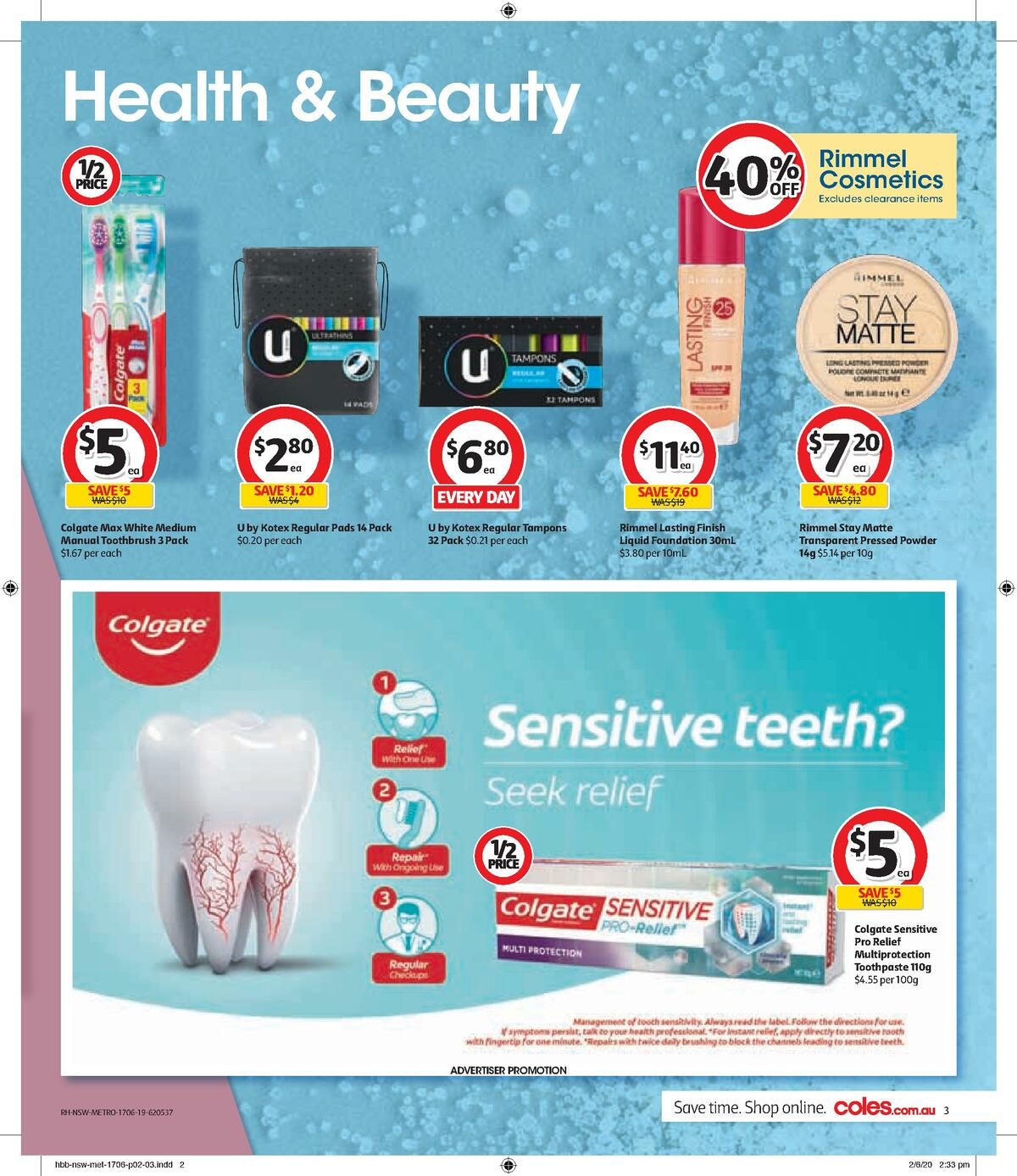 Coles Health & Beauty Catalogues from June 17
