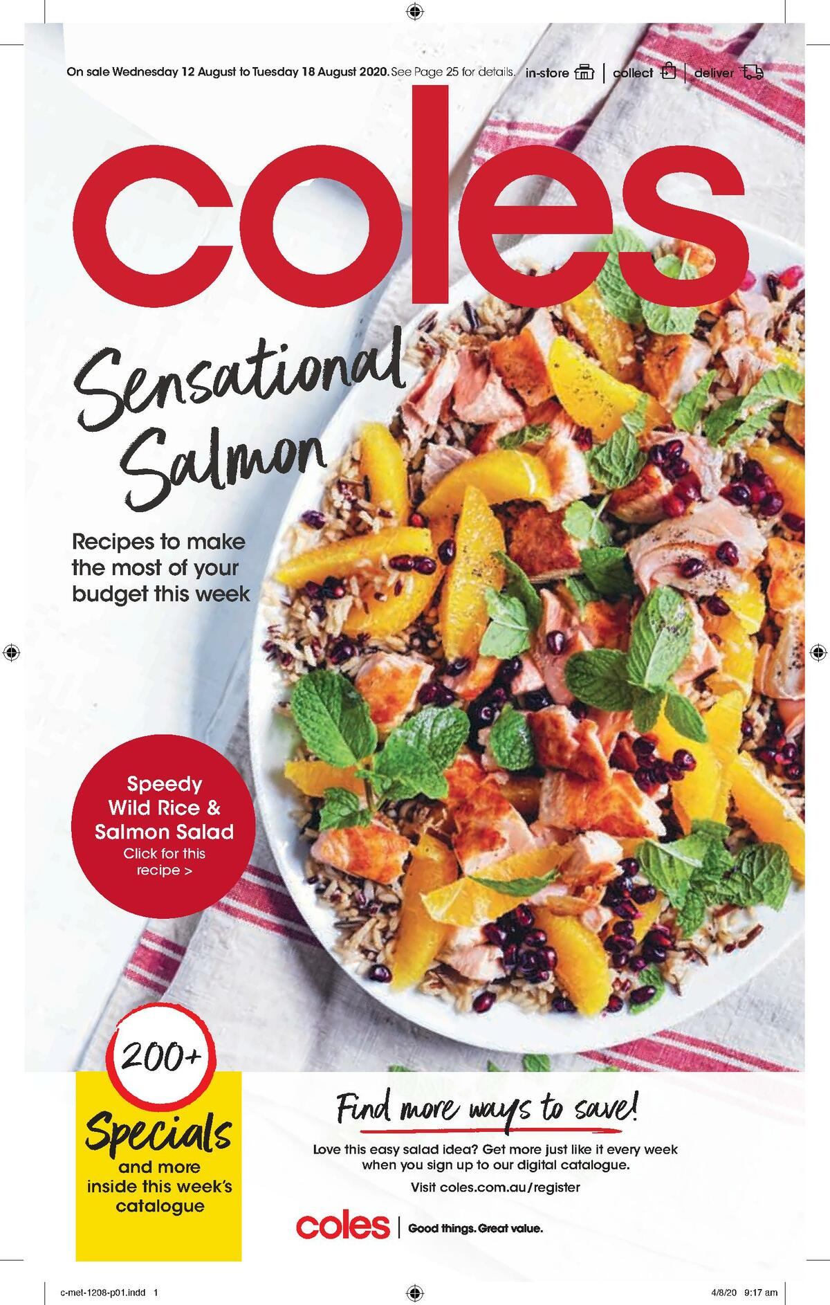 Coles Catalogues from August 12