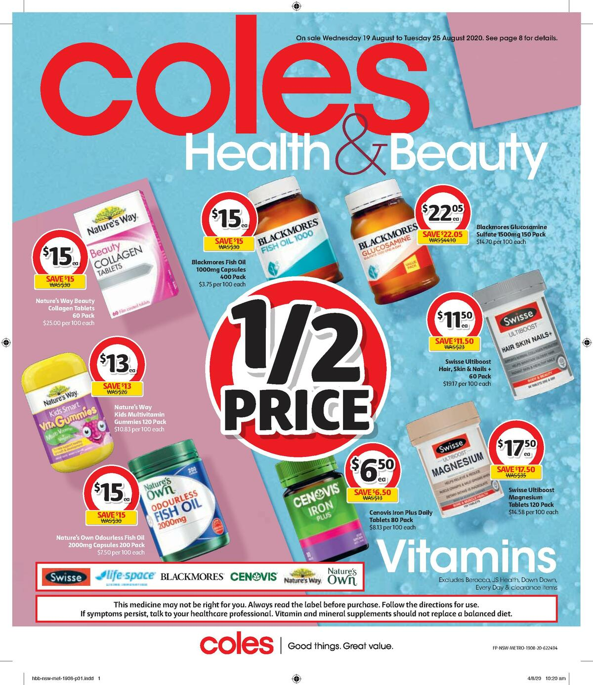 Coles Health & Beauty Catalogues from August 19