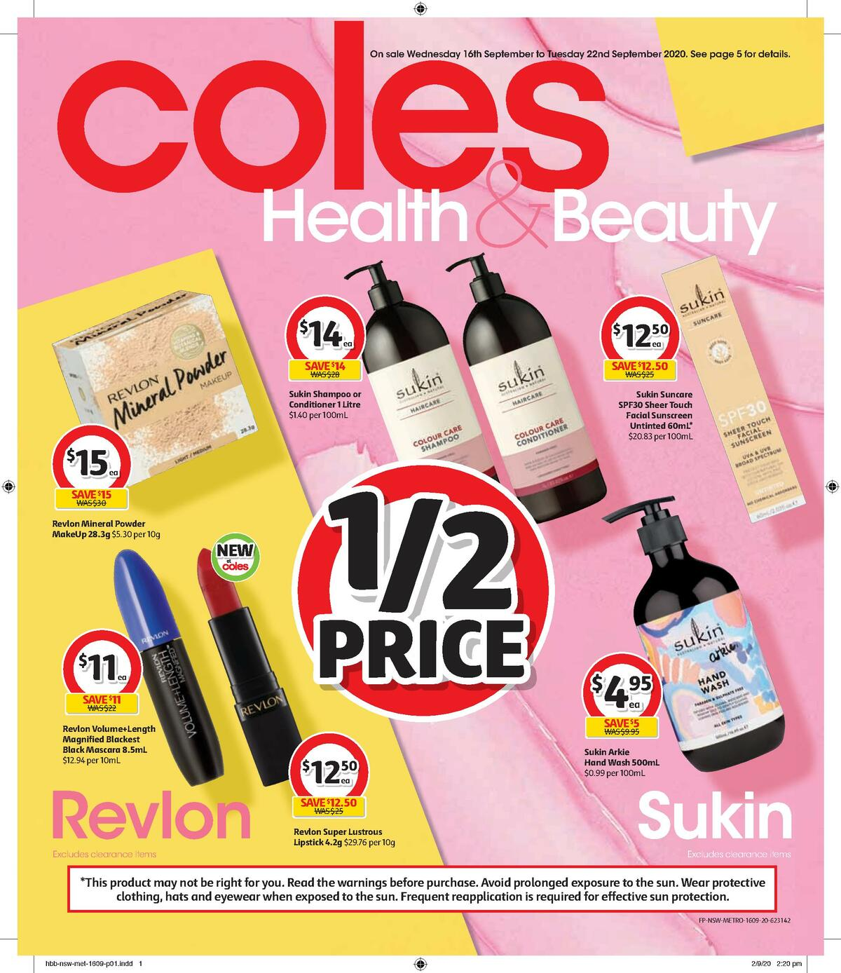 Coles Health & Beauty Catalogues from September 16