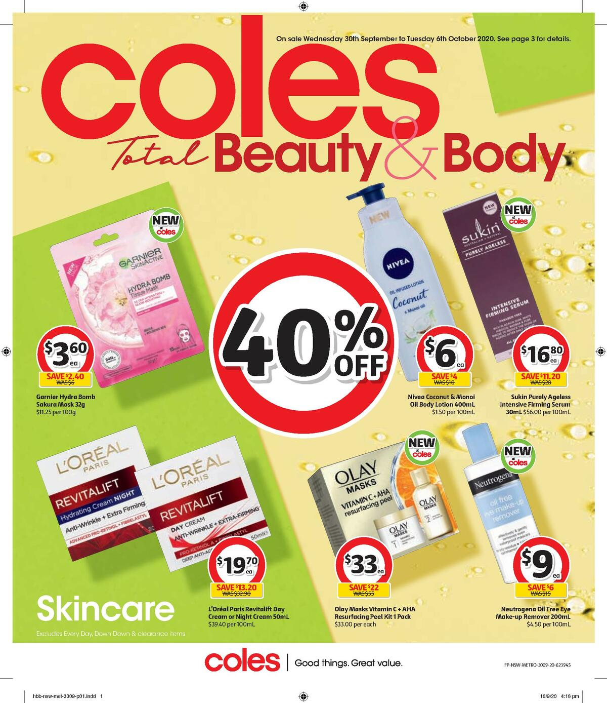 Coles Health & Beauty Catalogues from September 30