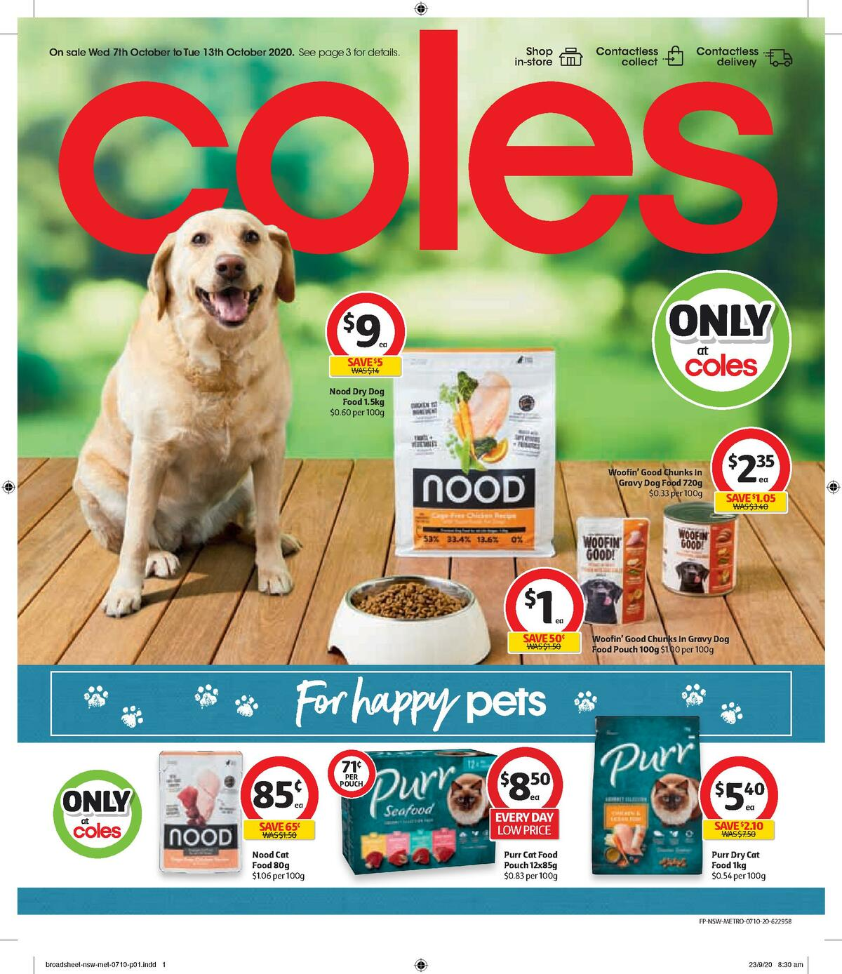 Coles Pet Catalogue Catalogues from October 7