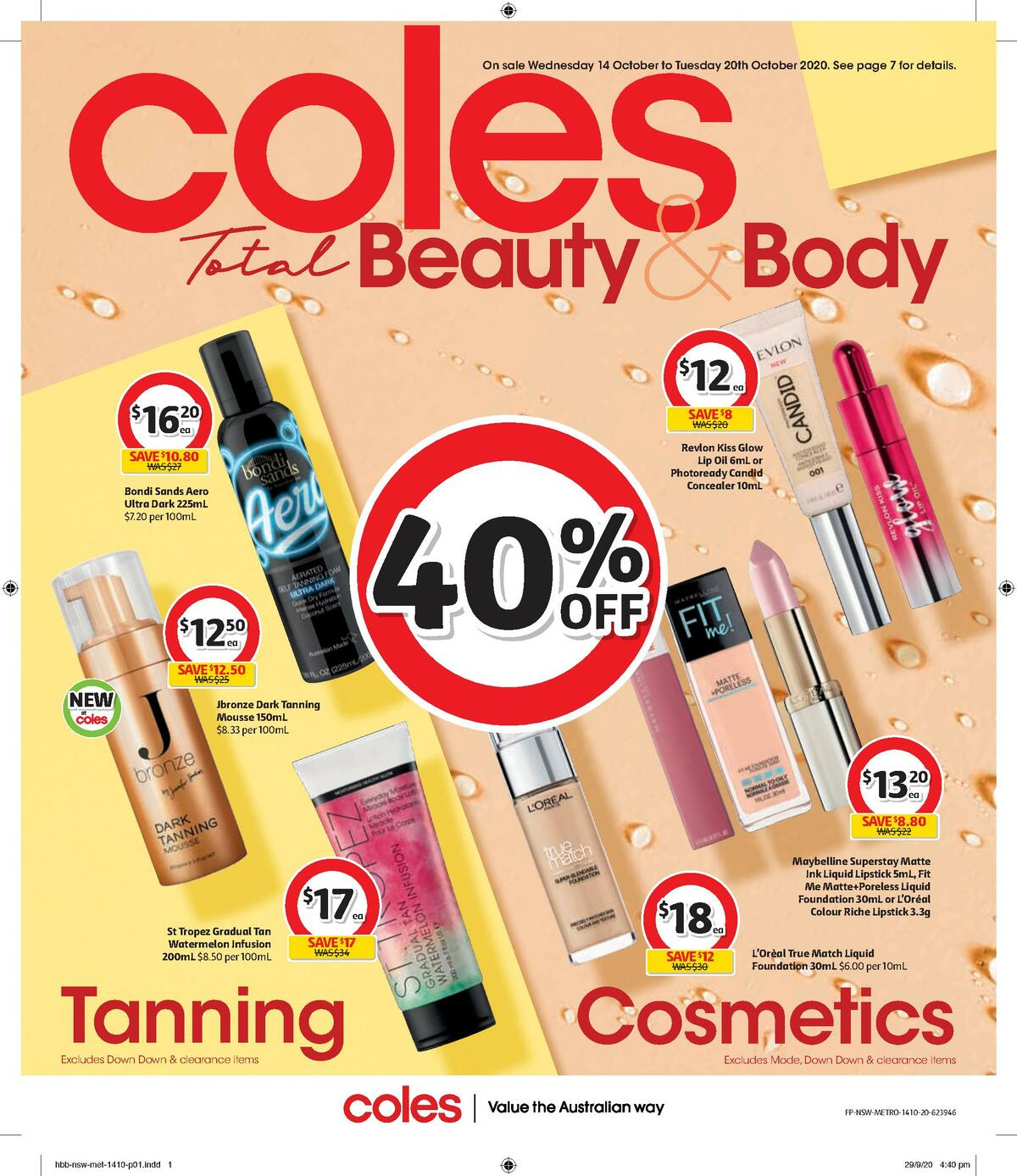 Coles Health & Beauty Catalogues from October 14