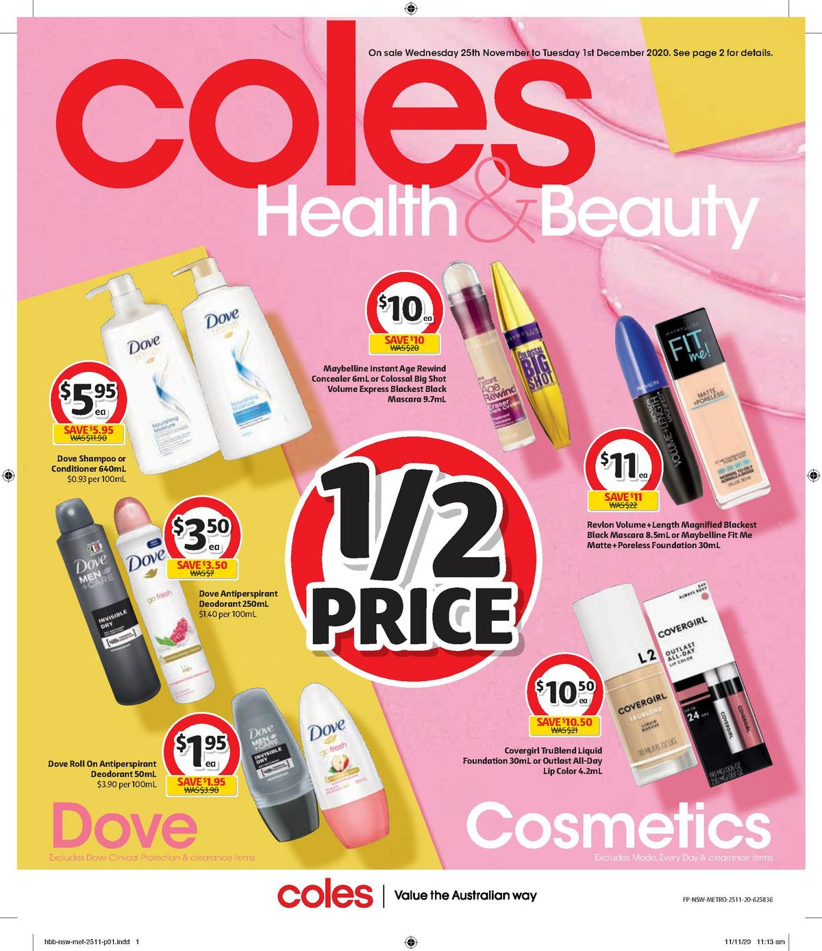 Coles Health & Beauty Catalogues from November 25