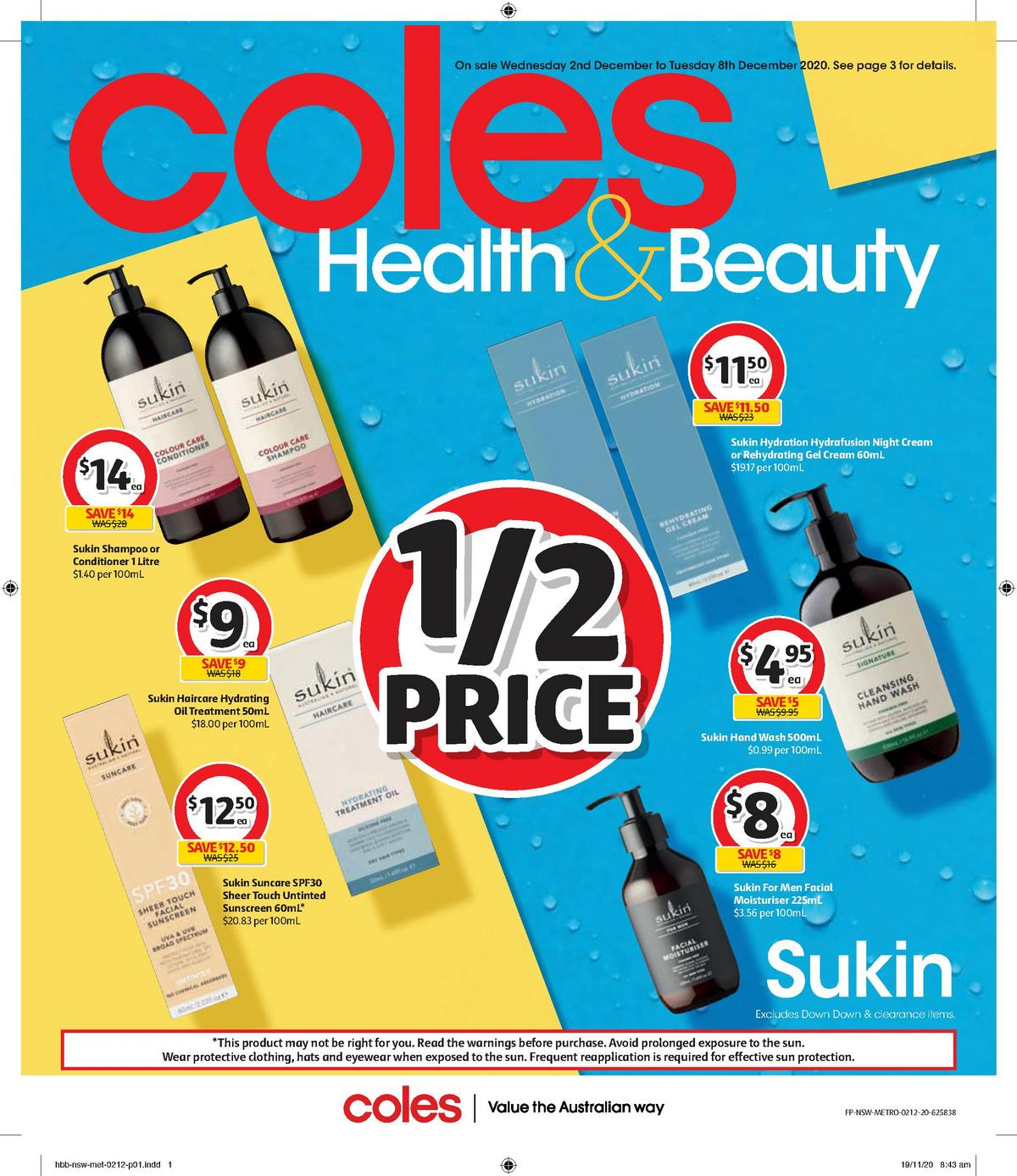 Coles Health & Beauty Catalogues from December 2