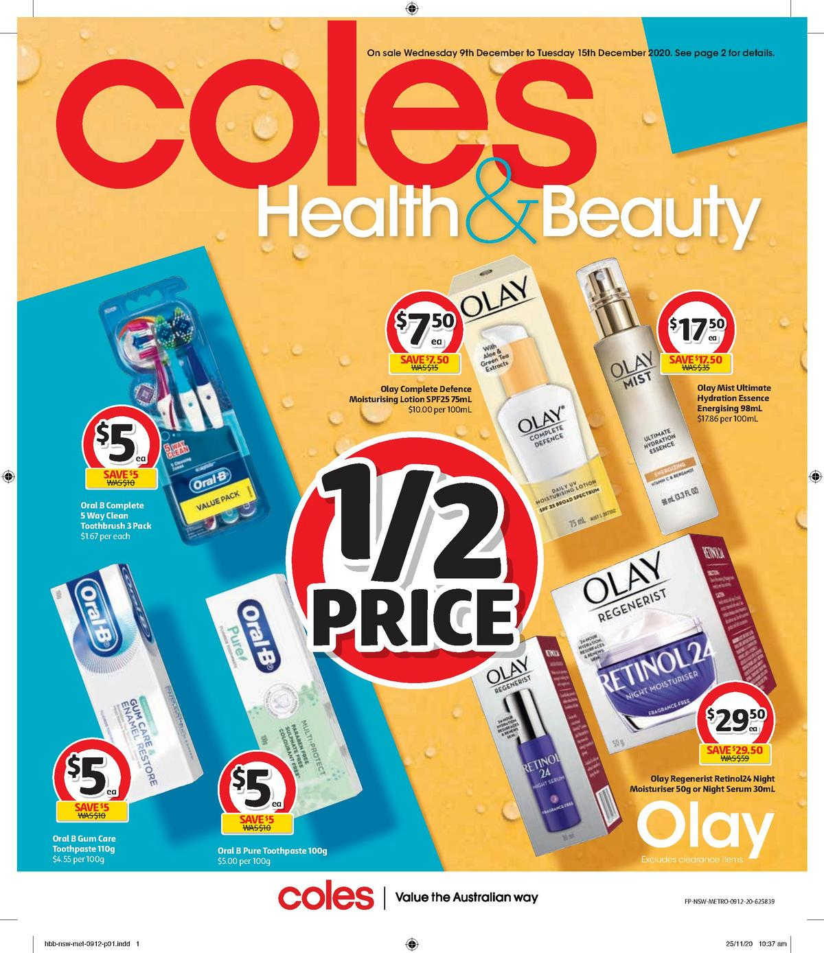 Coles Health & Beauty Catalogues from December 9