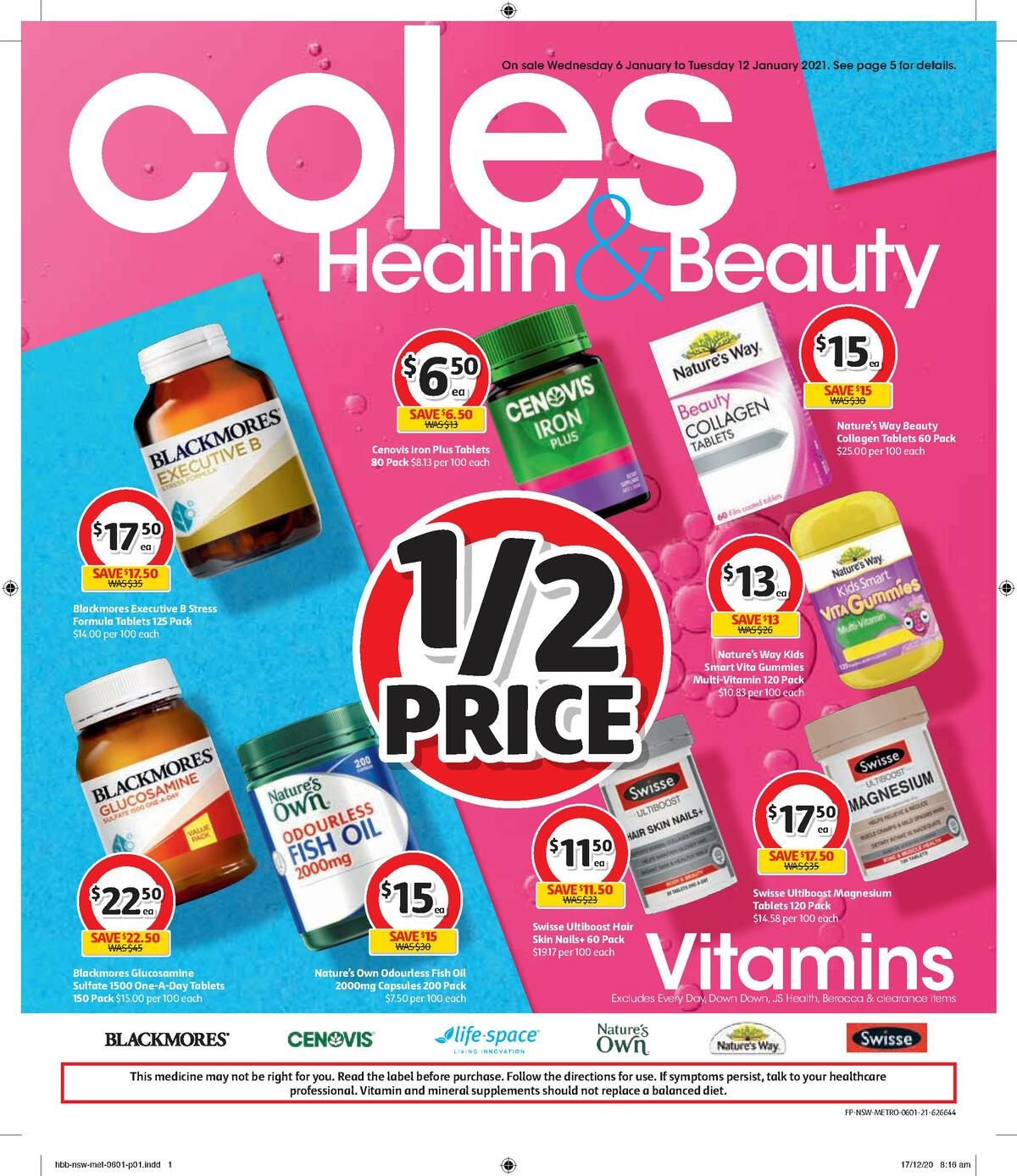 Coles Health & Beauty Catalogues from January 6