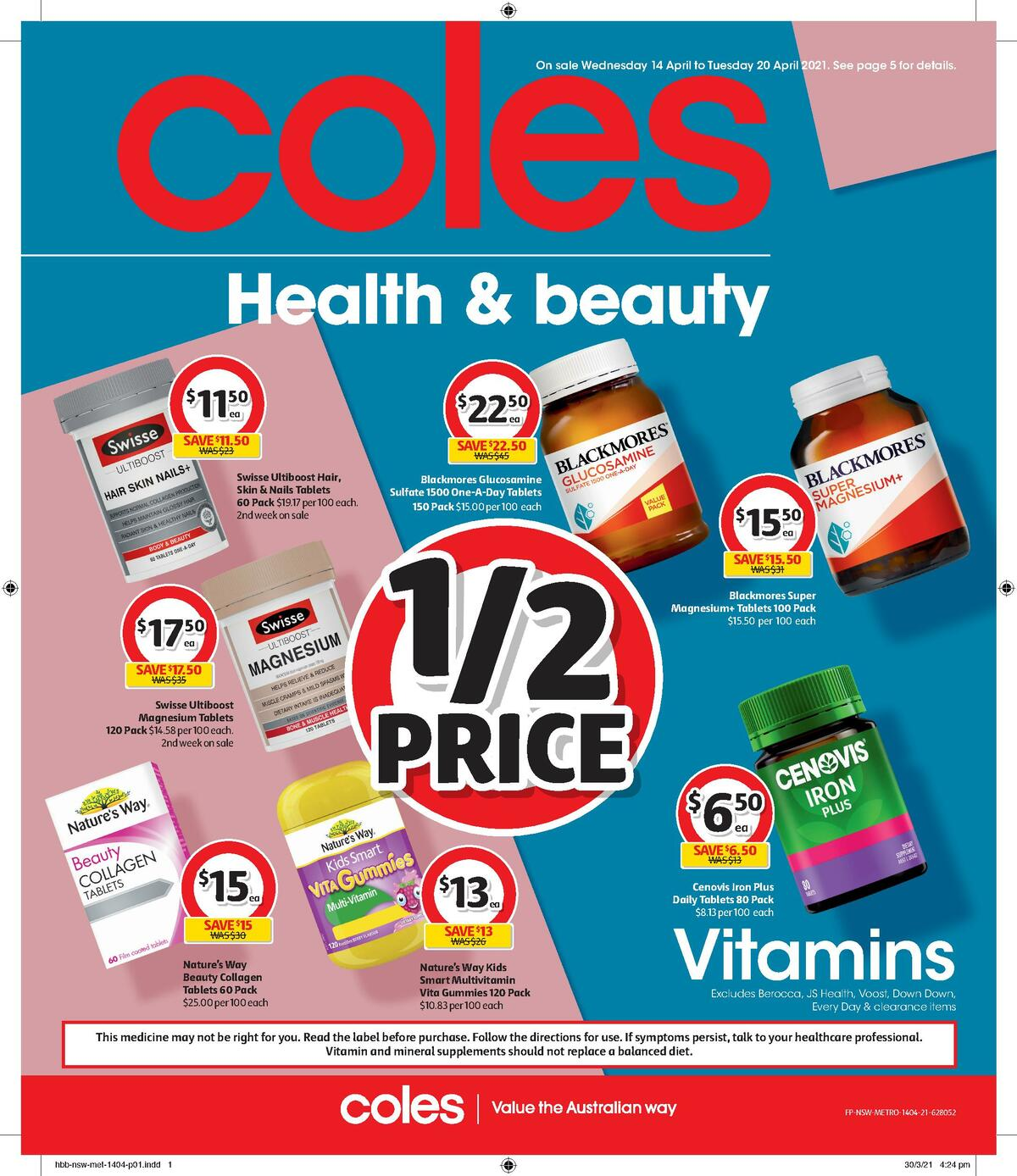 Coles Health & Beauty Catalogues from April 14