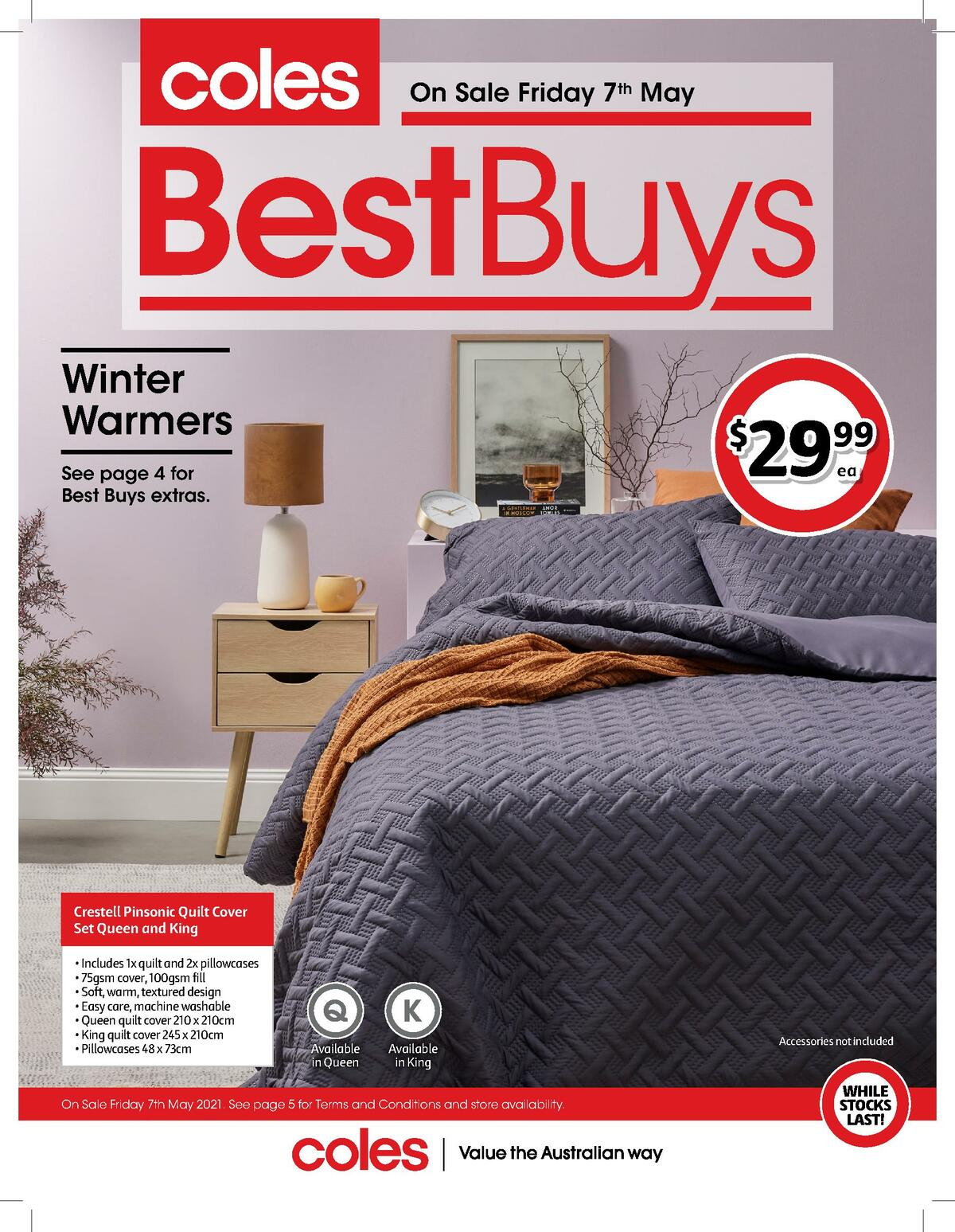 Coles Best Buys - Winter Warmers Catalogues from May 7