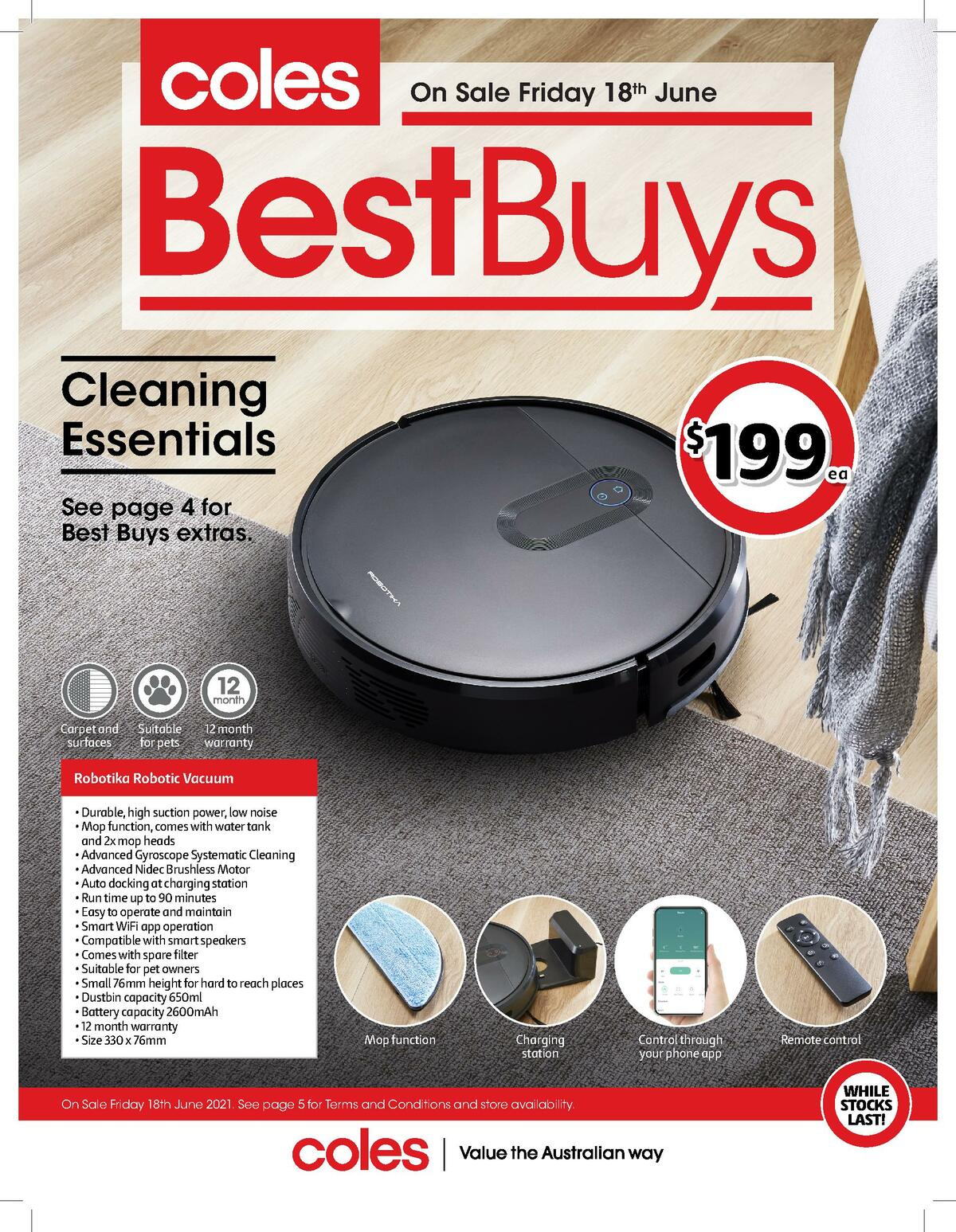 Coles Best Buys - Laundry & Storage sneak peek Catalogues from June 18