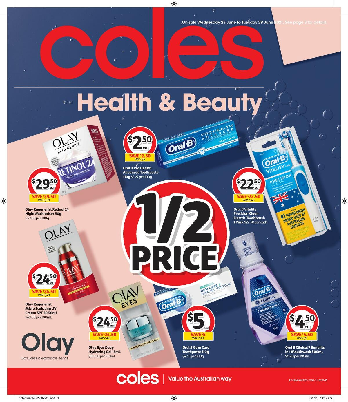 Coles Health & Beauty Catalogues from June 23