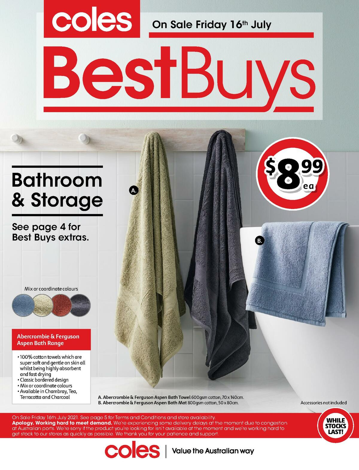 Coles Best Buys - Bathroom & Storage Catalogues from July 16