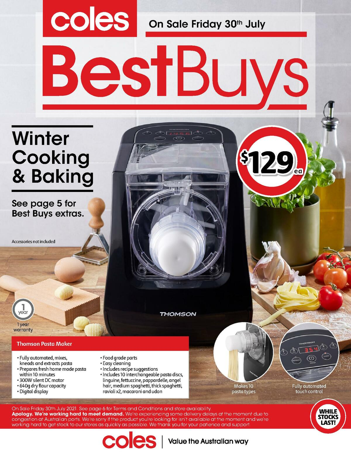 Coles Best Buys - Winter Cooking & Baking Catalogues from July 30