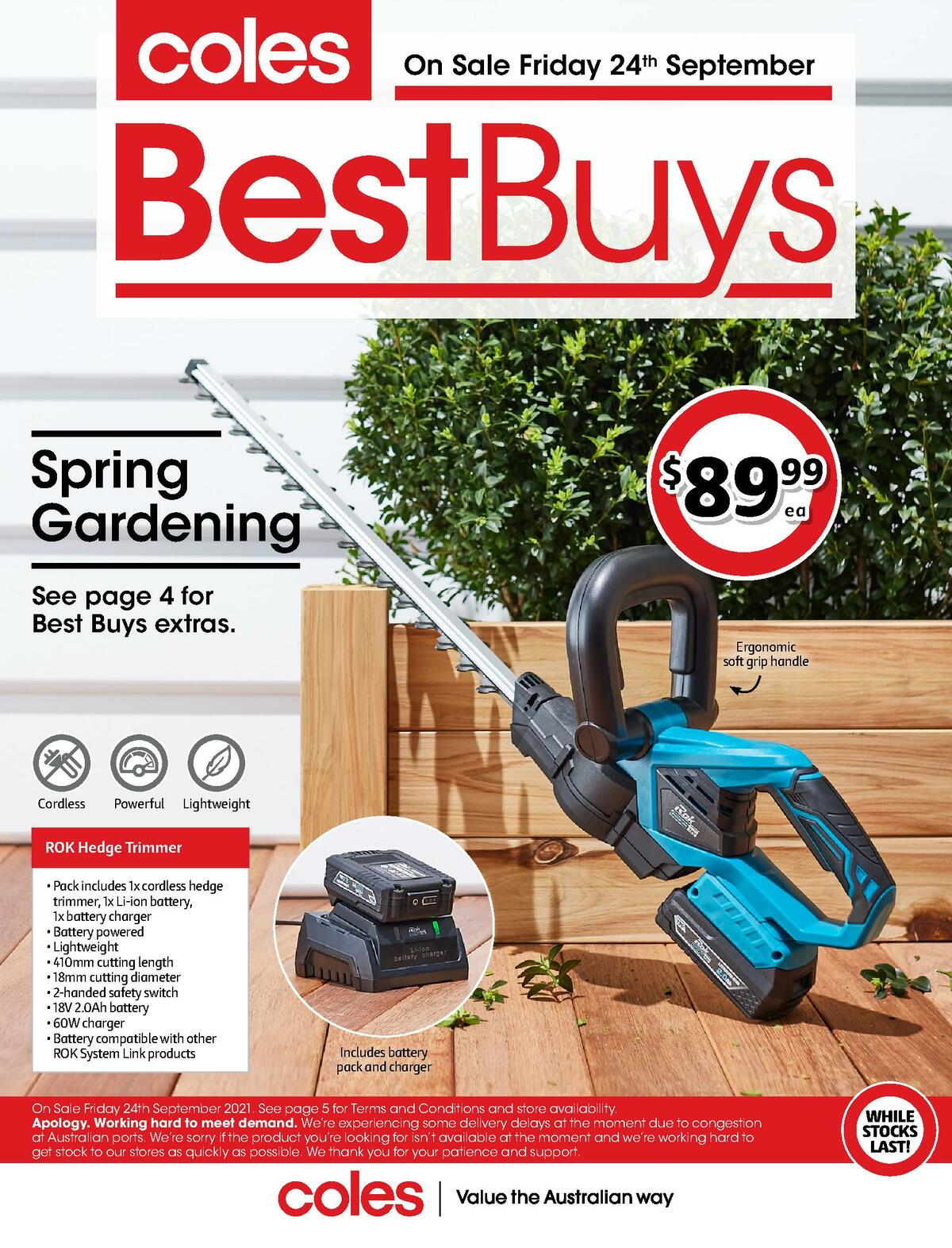 Coles Best Buys - Spring Gardening Catalogues from September 24