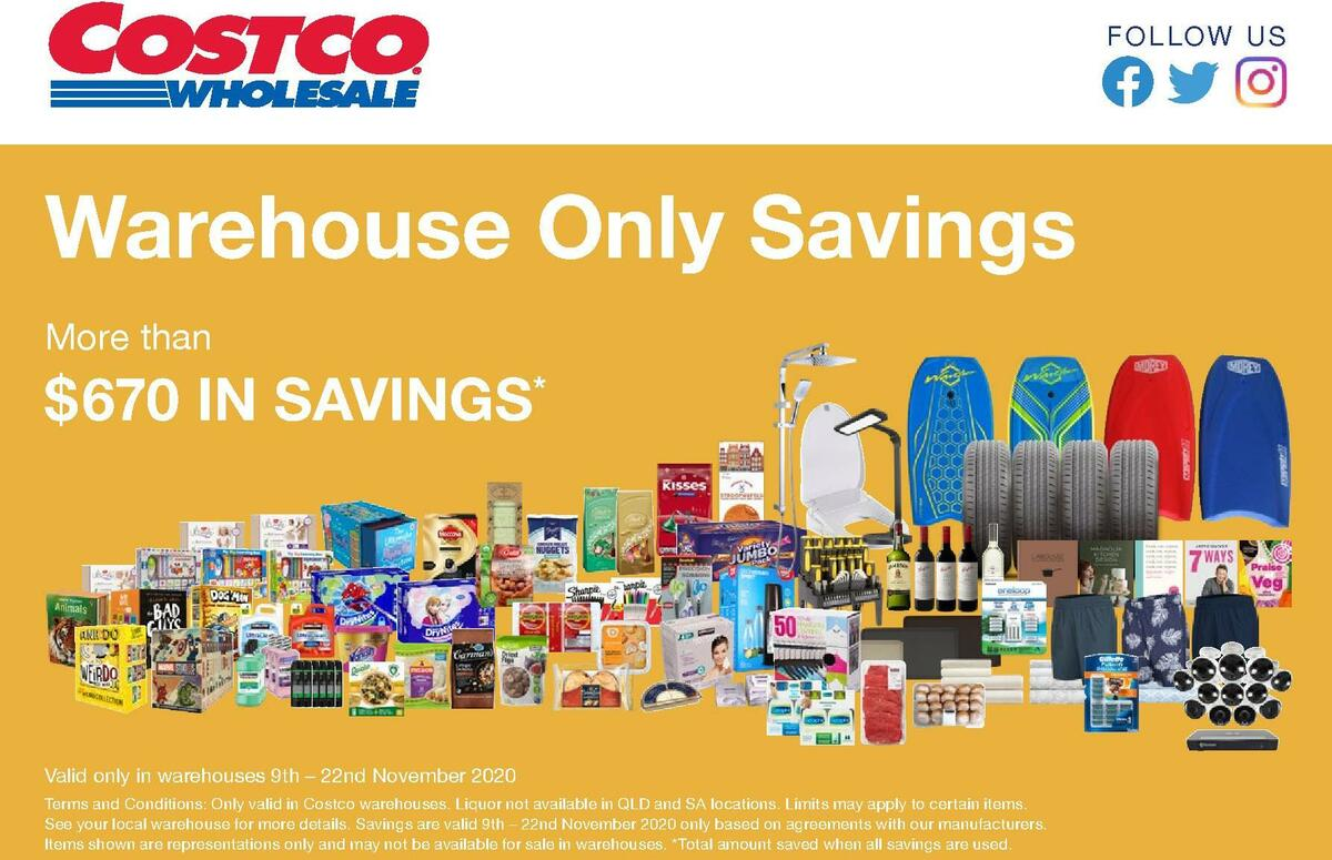 Costco Catalogues from November 9