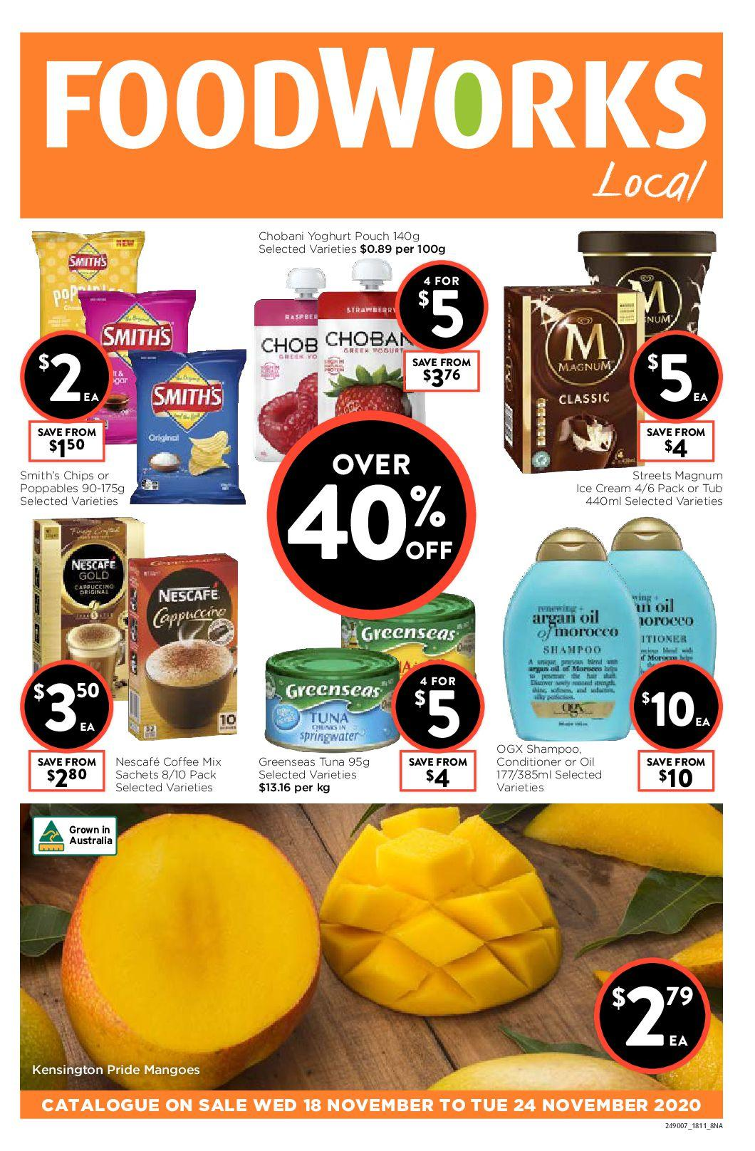 FoodWorks Catalogues from November 18