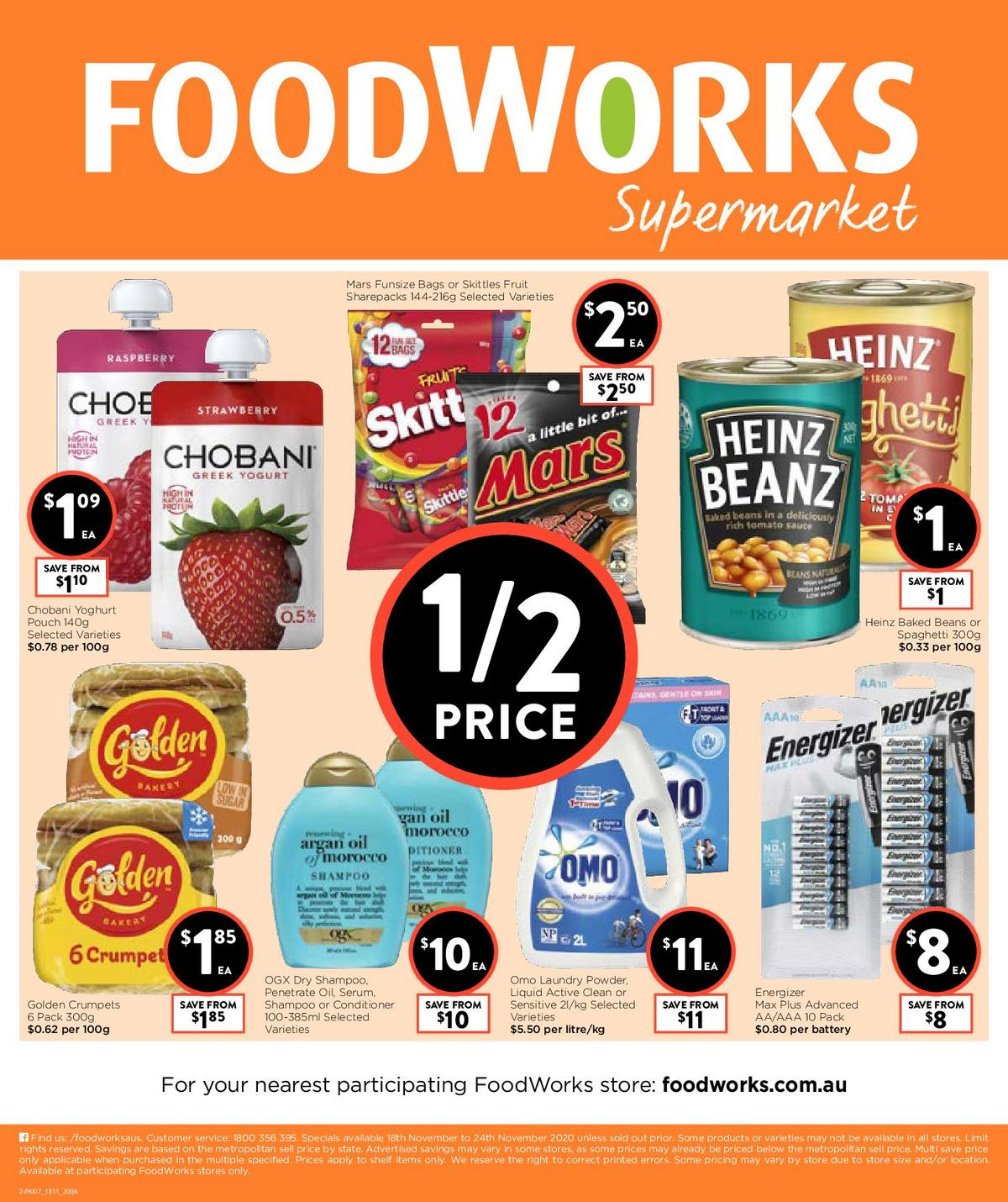 FoodWorks Supermarket Catalogues from November 18