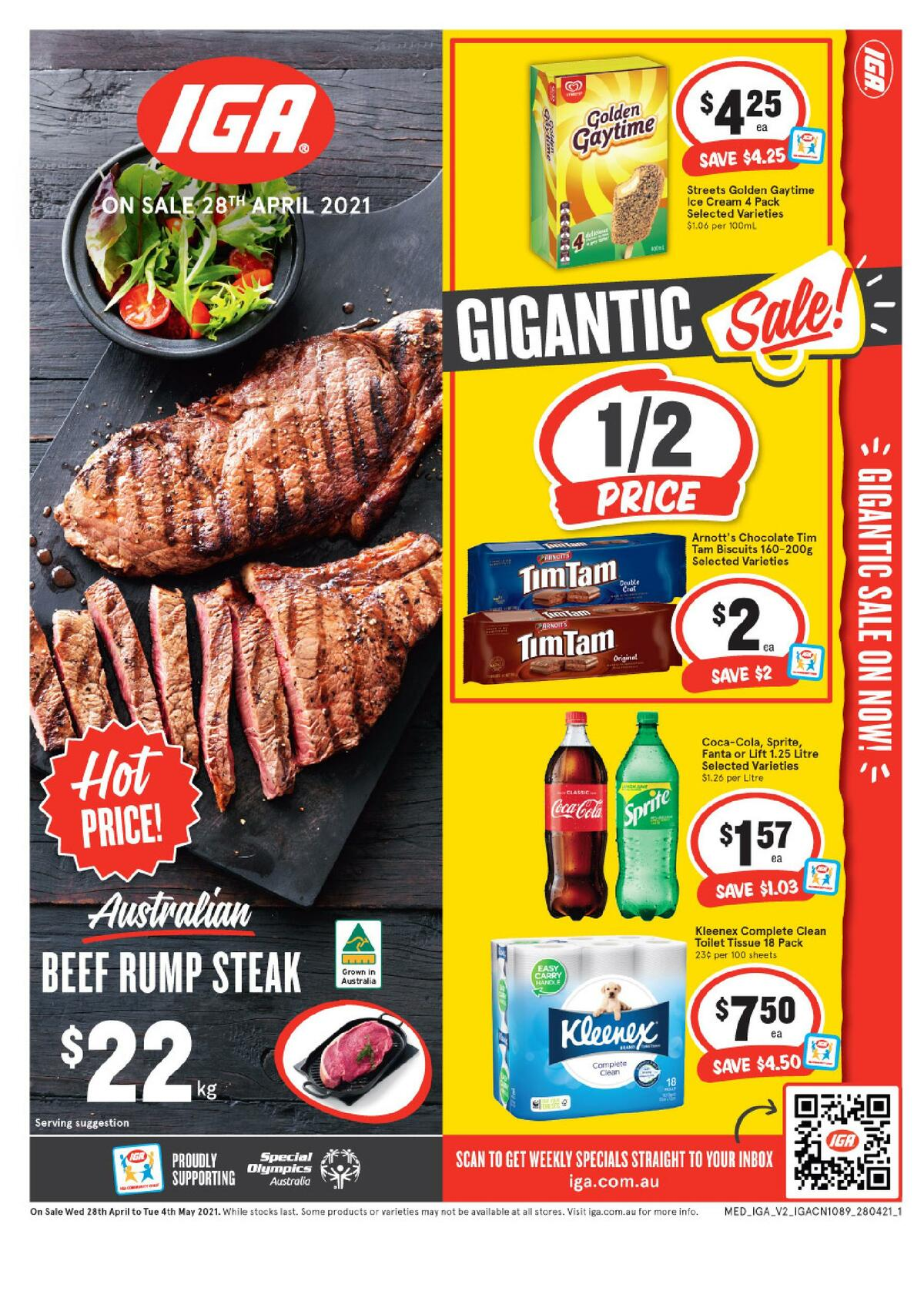IGA Catalogues from April 28