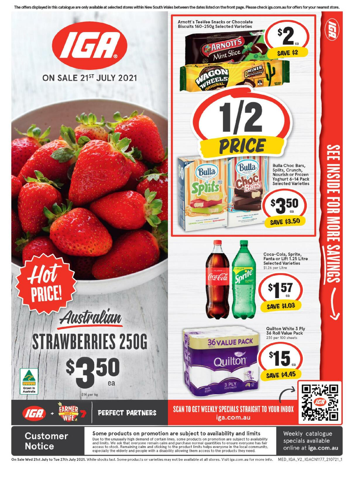 IGA Catalogues from July 21