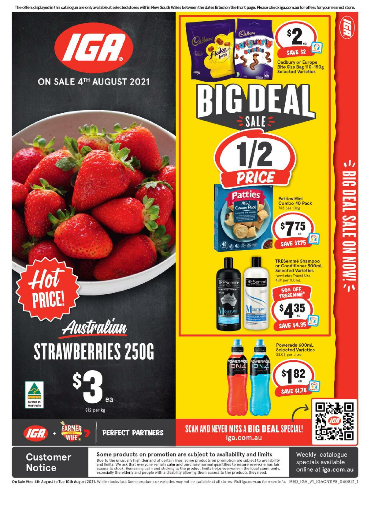 IGA Catalogues from August 4