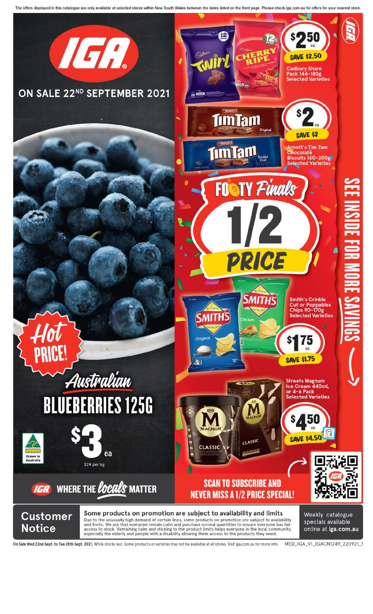 IGA Catalogues from September 22
