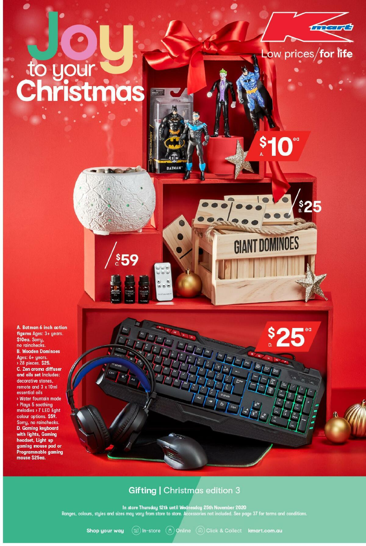 Kmart Joy to Your Christmas Catalogues from November 12