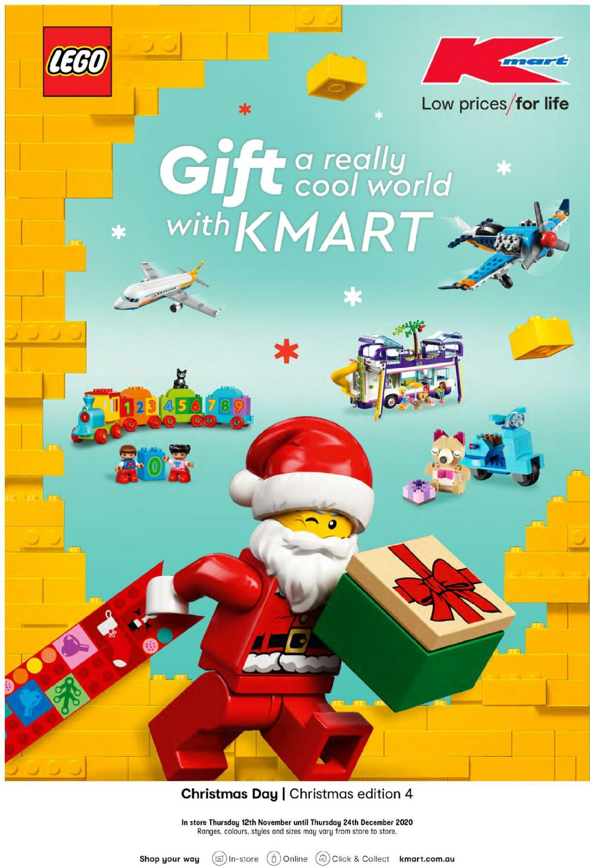 Kmart Gift a Really Cool World with Kmart Catalogues from November 12