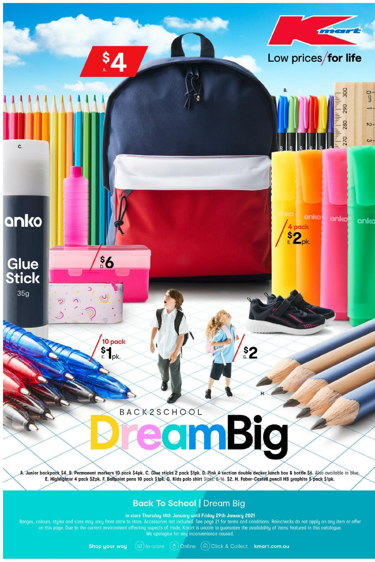 Kmart Dream Big Catalogues from January 14