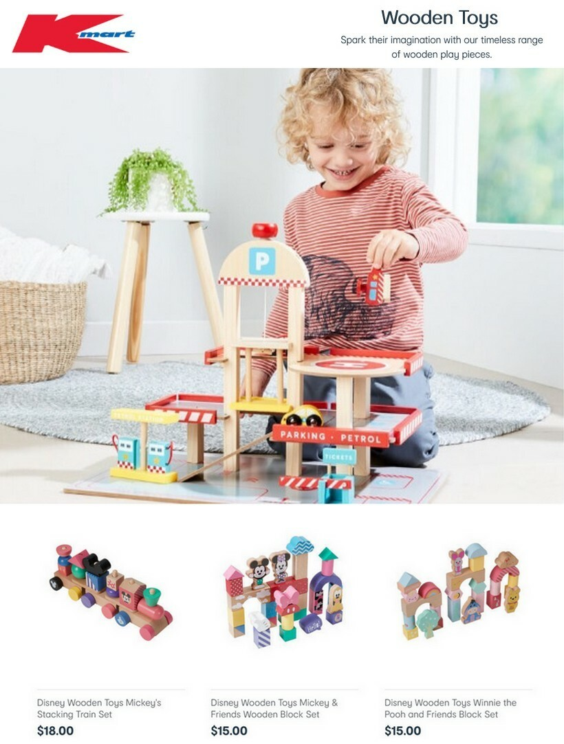 Kmart Wooden Toys Catalogues from June 10