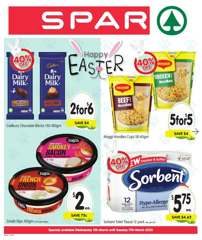 Spar Catalogues from March 11