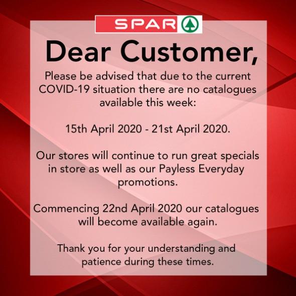 Spar Catalogues from April 15