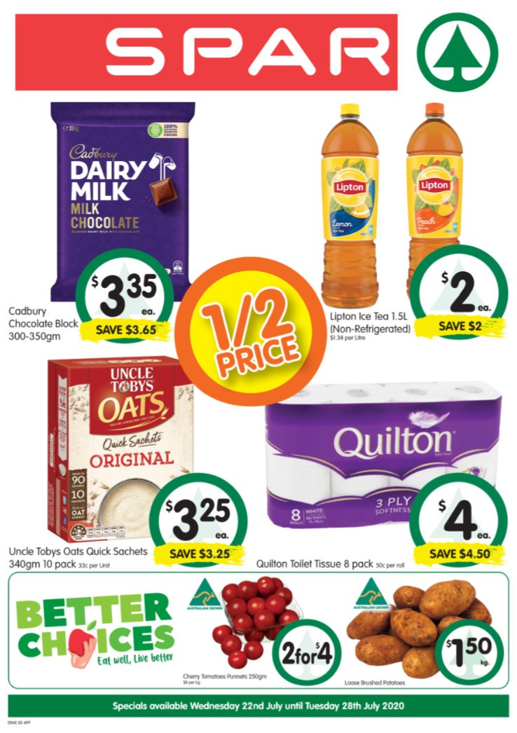 Spar Catalogues from July 22