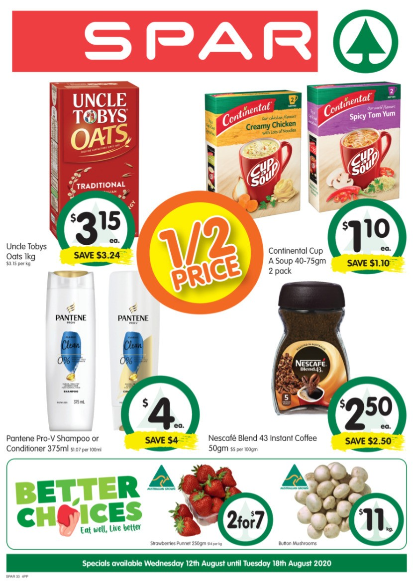 Spar Catalogues from August 12