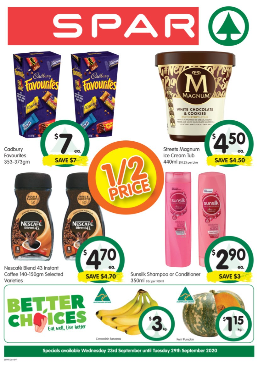 Spar Catalogues from September 23
