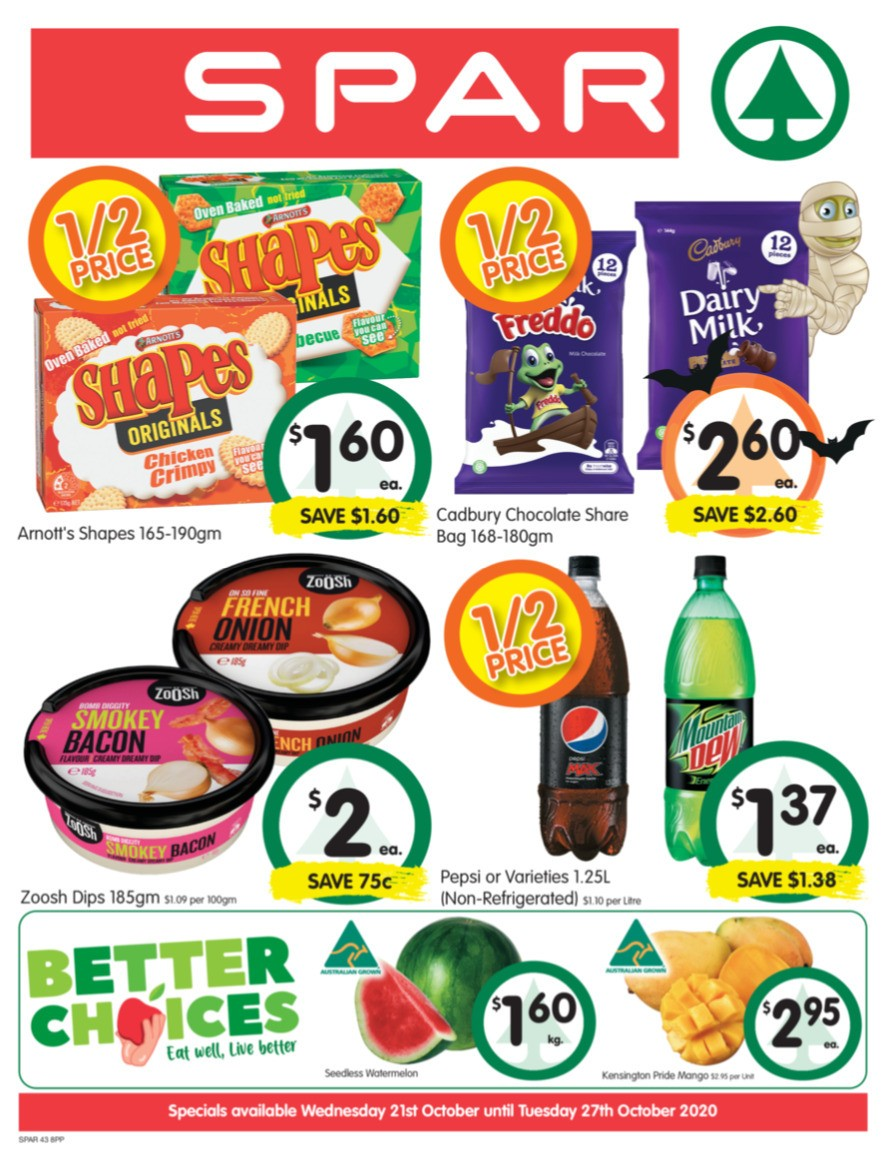 Spar Catalogues from October 21