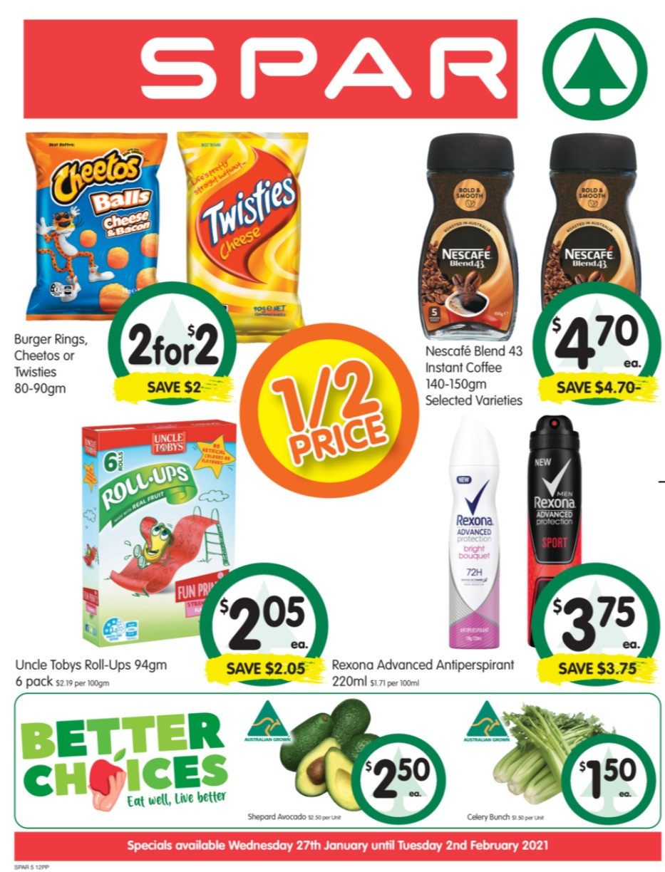 Spar Catalogues from January 27