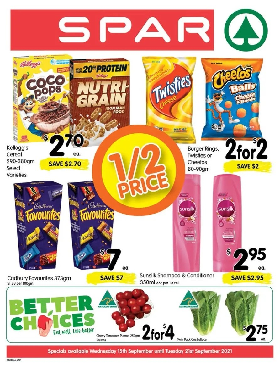 Spar Catalogues from September 15