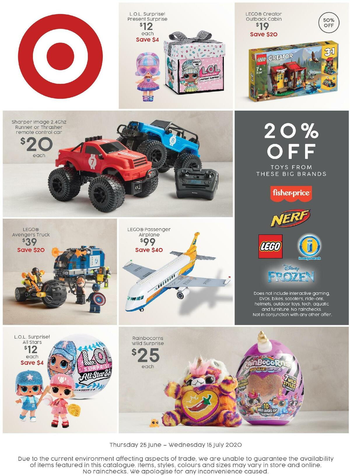 Target Catalogues from June 25