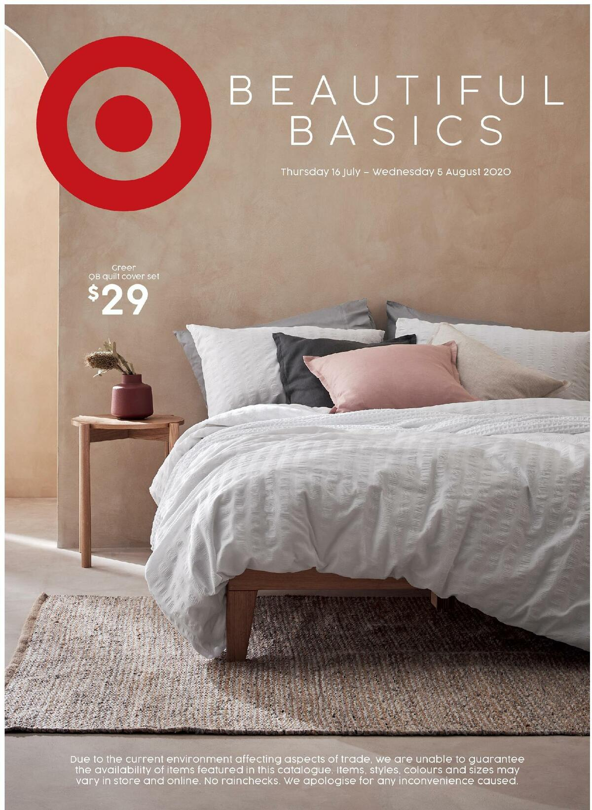 Target Catalogues from July 16